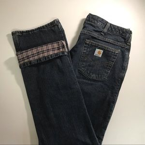 Carhartt Flannel Jeans 10x34 Relaxed Fit Straight